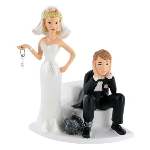 41RYth6c21L Wilton Ball and Chain Humorous Cake Topper