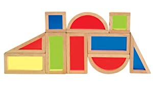 Baby Toy - Rainbow Building Blocks Set (10 Pieces) By Guidecraft