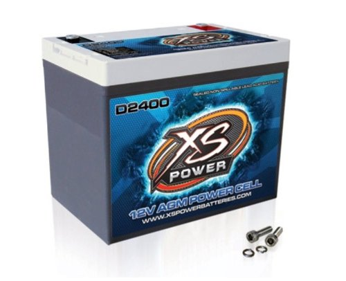 XS Power D2400 XS Series 12V 3,500 Amp AGM High Output Battery with M6 Terminal Bolt
