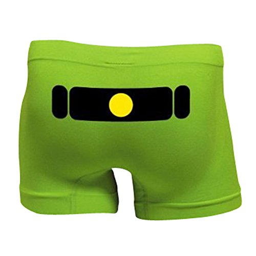 ボクサーパンツ【緑】【ストレッチ】量産型 オモシロ雑貨 パロディ下着 ギャグパンツ【男女兼用】
