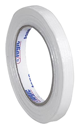 """Tape Logic 1400 Industrial Grade Filament Tape, 156 lbs Tensile Strength, 60 yds Length x 1/2"""" Width, Clear (Case of 72)"""