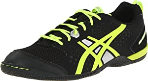 ASICS Men's Gel-Fortius TR Cross-training Shoe,Black/Flash Yellow/Silver,10.5 M US