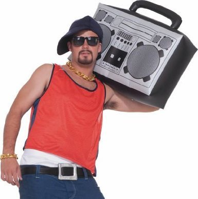 Hip Hop Inflatable Costume Toy Boom Box