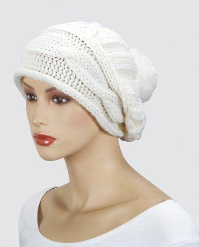 Emeco Strickmütze Mütze LONG BEANIE Slouch RASTA KH130-149 viele Farben (CREAM-WEISS-KH271-20)