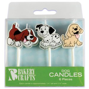 6 pc Puppy Dog Cake Candles - 1