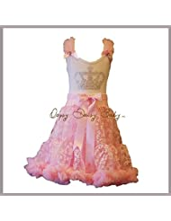 Oopsy Daisy Baby Girl Pink Crown Bling Pettiskirt Dress Dress up Princess Ballet Tutu Dress Size 8