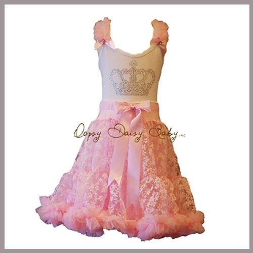 Buy Oopsy Daisy Baby Girl Pink Crown Bling Pettiskirt Dress. Dress ...