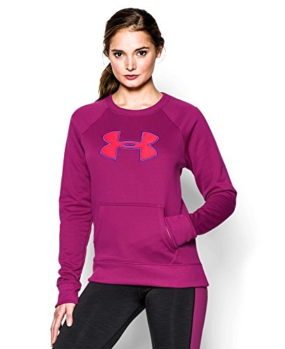 Under Armour Womens UA Big Logo Lettermen Crew Sweatshirt Size S Small