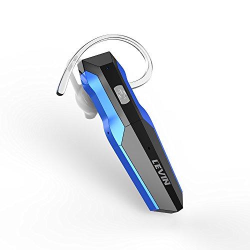 LEVIN(レビン) Bluetooth イヤホン 片耳 高音質 ハンズフリー通話 ダブルバッテリー付 CVC6.0ノイズキャンセリング 快適装着 スポーツ ワイヤレス イヤホン 片耳 (ブルー/ブラック)