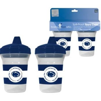 Baby Fanatic 2 Pack Sippy Cup Penn State University Nittany Lions, 6-Ounce back-737360