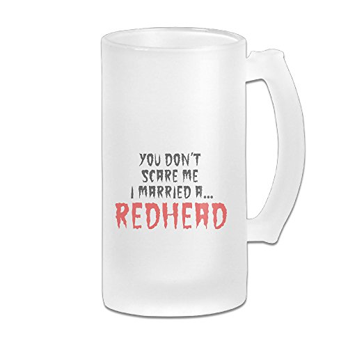 [Audy-A8 You Don't Scare Me I'm Redhead Custom Frosted 16oz Glass Beer Stein] (Forrest Gump Kid Costume)