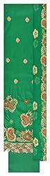 Fashion Hut Women's Cotton Unstitched Dress Material (Green)