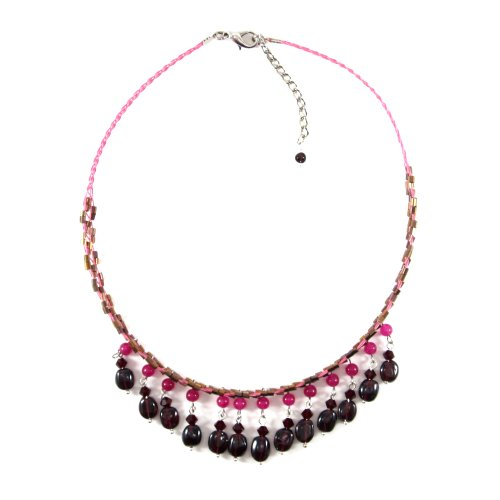 MGD, Garnet Chocker Necklace,