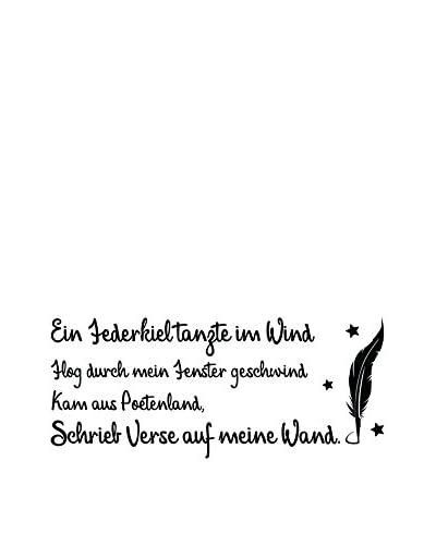 Ambiance-sticker Vinile Decorativo German Quote Poetry Ein Federkiel
