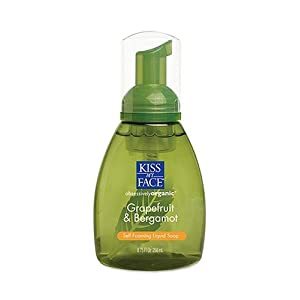 Kiss My Face Organic Grapefruit &amp; Bergamot Self-Foaming Liquid Soap, 8.75-Ounce Pumps (Pack of 3)
