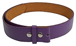 JTC Belts Faux Leather Belt For Buckles Many Colors. Purple. Large