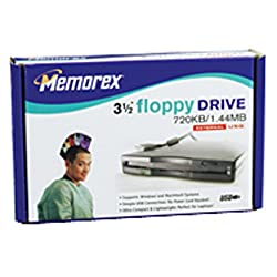 Memorex 1.44MB USB Floppy Drive (Black)