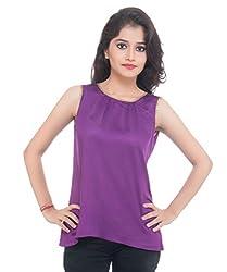 Lal Chhadi Girls Sleeveless Purple Short Top