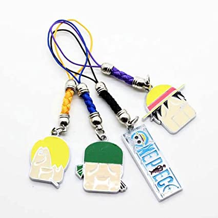 ONE PIECE - Luffy Zorro Sanji 5x porte-clés keychain phone charm avec LIVRAISON GRATUITE