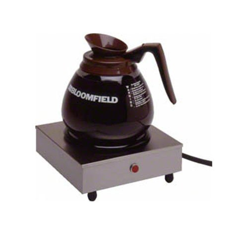 "Bloomfield 8851S Coffee Warmer, 1-Station, Stainless Steel, 7 1/2"" Depth, 7 1/2"" Width, 3"" Height front-310726"