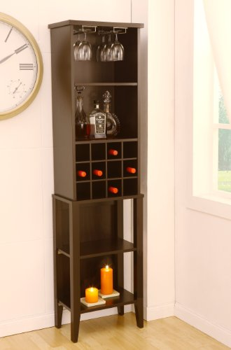 Enitial Lab Trinity Dining Wine Pier/Tower, Dark Espresso front-399699