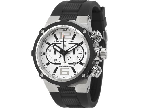 Officina Del Tempo  Watches sale: Officina Del Tempo – Power – 49mm Chronograph – OS21 – White Dial
