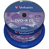 Verbatim 43758 - DVD+R vírgenes (8,5 GB, 8x, Double Layer) - pack 50