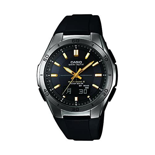 Casio Men's Quartz Watch with Black Dial Analogue - Digital Display and Black Resin Strap WVA-M640B-1A2ER