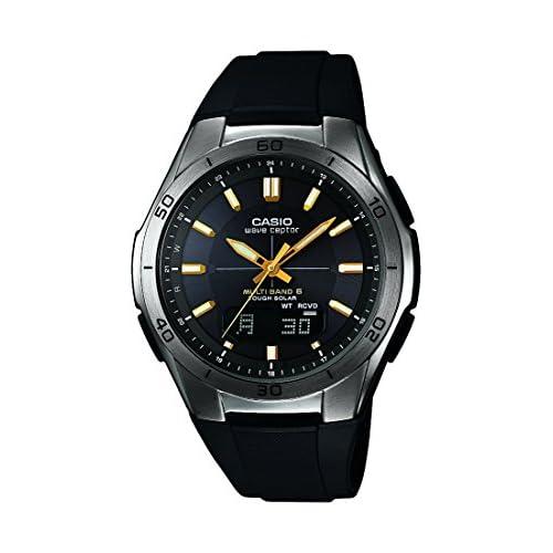 Casio Men's Quartz Watch with Black Dial Analogue - Digital Display and Black Resin Strap WVA-M640B-1A2ER