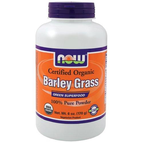 Now Foods Barley Grass Pure Powder - 6 Oz. - Organic 3 Pack