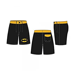 Batman Symbol Black Board Shorts w/ Rear Pocket at Gotham City Store