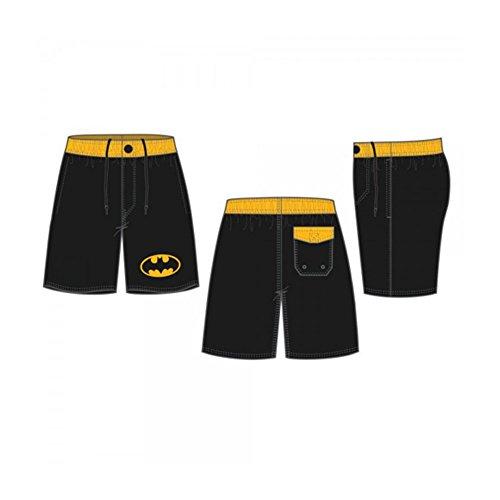 Batman Symbol Black Board Shorts w/ Rear Pocket at Gotham City Store