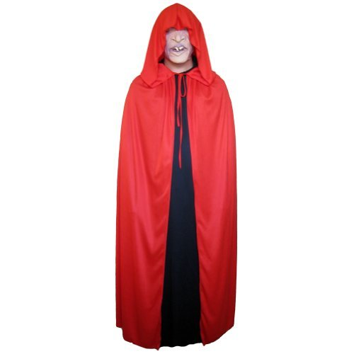 "54"" Red Cloak with Large Hood ~ Halloween Costume Cape (STC11518)"