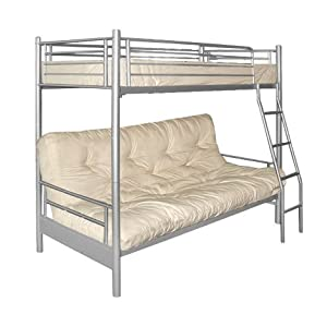 Futon Bunk Frame - Frame Only - Safety Rails - Ladder - Modern design