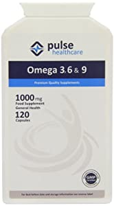 Pulse Healthcare 1000mg Omega 3/ 6/ 9 Premium Quality GMP Supplement - Pack of 120 Capsules