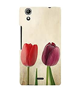 Beautiful Tulips Roses 3D Hard Polycarbonate Designer Back Case Cover for Micromax Canvas Selfie 2 Q340