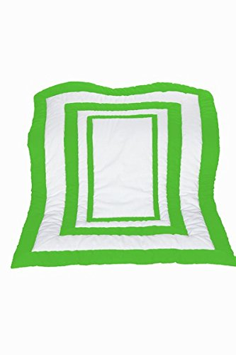 Baby Doll Modern Hotel Style Crib Comforter, Green Apple