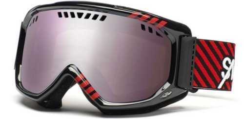 Smith Herren Skibrille Scope Graphic, black red commodore