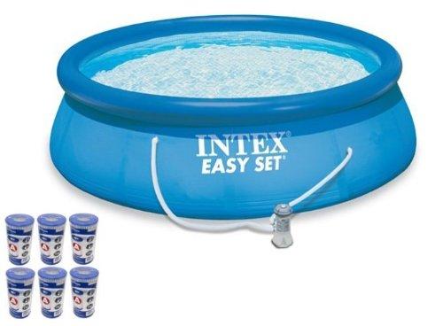 Intex 15 39 X 48 Easy Set Swimming Pool Kit W 1000 Gph Gfci Filter Pump 54915eg Sale Above