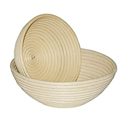 Paragon Storm Banneton Proofing Baskets Set of 2 Professional Rattan Artisan Baking Brotform for Bread and Dough