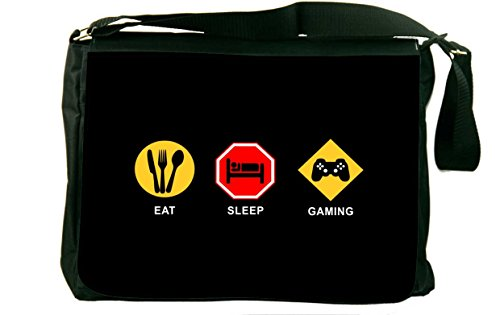 Eat Sleep Gaming Messenger Bag