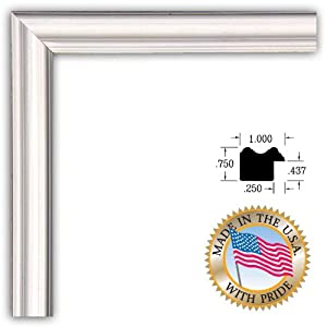 ArtToFrames 8x10 White Stain on Pine Picture Frame 1 Inches Wide 0066-60823-YWHT