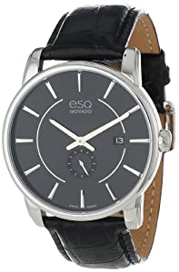 "ESQ Movado Men's 07301413 ""esQ Capital"" Stainless Steel Watch with Leather Band"