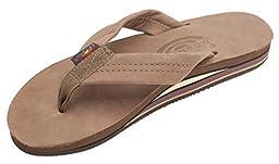 Rainbow Sandals 301ALTS Womens Double Layer Premier Leather Dark Brown Leather Medium / 6.5-7.5 B(M) US