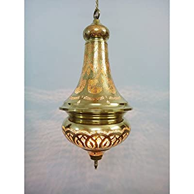 BR367 Charming Mosaic Handmade Moroccan Brass Pendant Lamp Chandelier