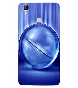 ColourCraft Digital Ball Design Back Case Cover for VIVO V3 MAX