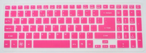 Folox Tm Colored Keyboard Protector Cover For Acer Aspire M3-581T M3-581Ptg M5-581G M5-581T V5-571G V5-571Pg V5-551G V5-531P (Hot Pink)
