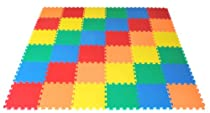"Big Sale Best Cheap Deals Rainbow (5 Colors) Interlocking foam Wonder Mats: 36 Pieces at 12"" X 12"" X ~9/16"" Extra Thick"