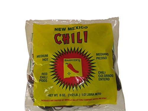 Barker's Medium Spicy Dried Red Chili Pods From Hatch, New Mexico (8 oz.) (Chili Dry compare prices)