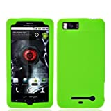 Neon Green Silicone Rubber Gel Soft Skin Case Cover for For Motorola Droid  ....